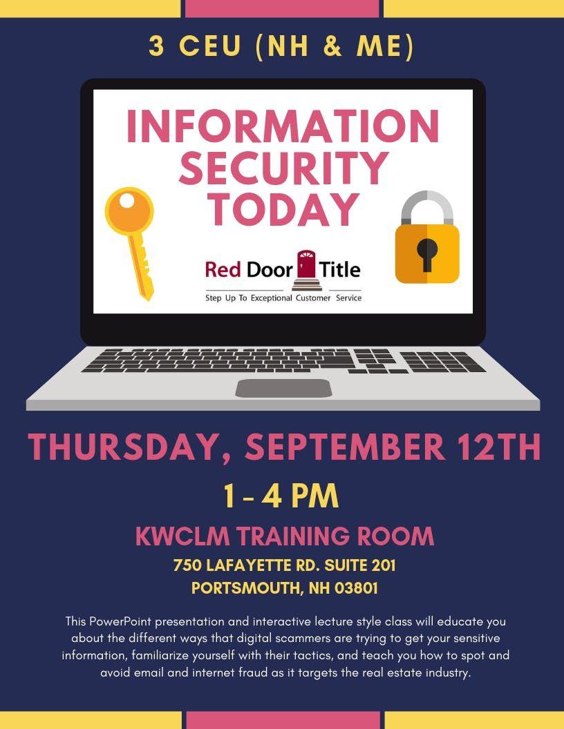 Information Security Today (3CEU) at Keller Williams Coastal