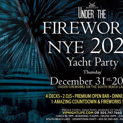 Private Link --- Miami Under the Fireworks Yacht Party New Years Eve 2021 at South Beach Lady ...