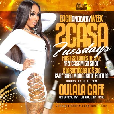 2 CASA TUESDAYS - The Perfect Mix of Tacos and Tequila Specials
