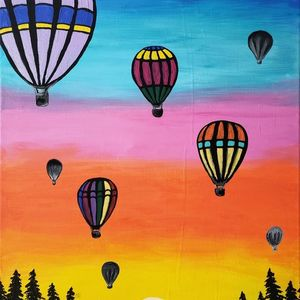 Paint Night Date Night Canvas Art painting class