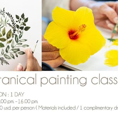 Botanical painting class for beginners