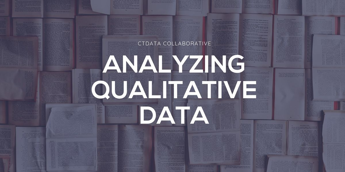 Analyzing Qualitative Data | Online Event | AllEvents.in