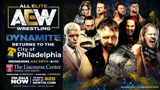 All Elite Wrestling (AEW) Presents: Dynamite, 7 April | Event in Philadelphia | AllEvents.in