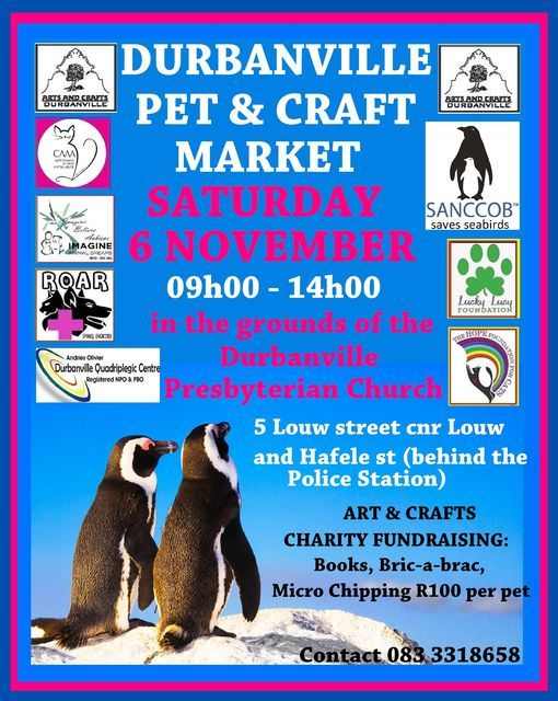 DURBANVILLE PET AND CRAFT MARKET- MONTHLY CRAFT AND CHARITY MARKET, 6 November   Event in Durbanville   AllEvents.in