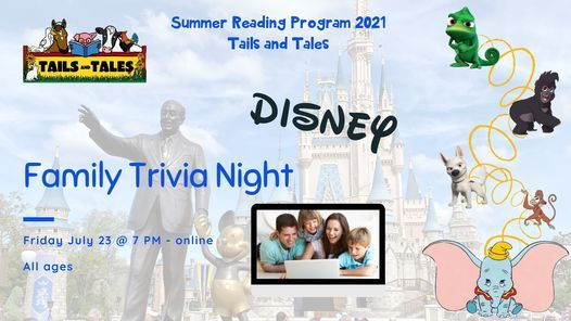 Family Trivia Night - Disney, 23 July | Online Event | AllEvents.in