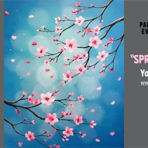 FREE YouTube Live Paint Night - Spring Bokeh Blossoms