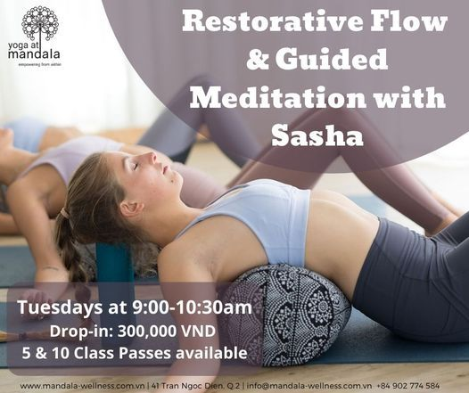Restorative Flow  & Guided Meditation with Sasha   Event in Ho Chi Minh City   AllEvents.in