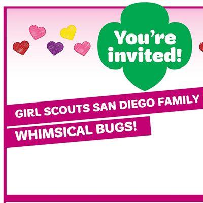 Girl Scouts Virtual Craft NightWhimsical Bugs