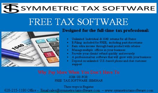 Symmetric Tax Free Tax Software Seminar at Red Lobster