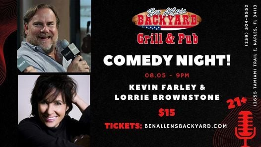 Comedy Night Ft. Kevin Farley and Lorrie Brownstone, 5 August   Event in Naples   AllEvents.in
