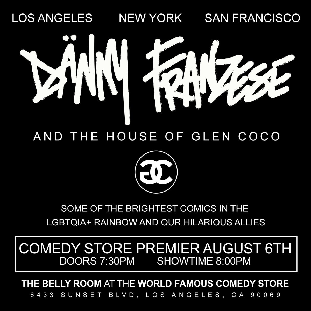 Danny Franzese and The House Of Glen Coco at The Comedy