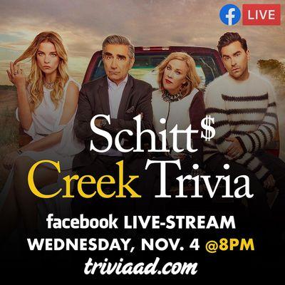 Schitts Creek Trivia Live-Stream