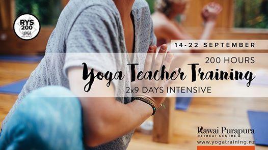 200 hour Yoga Teacher Training 2x9 days intensive
