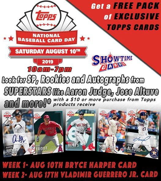 National Baseball Card Day 2019 At Showtime Cards Tucson