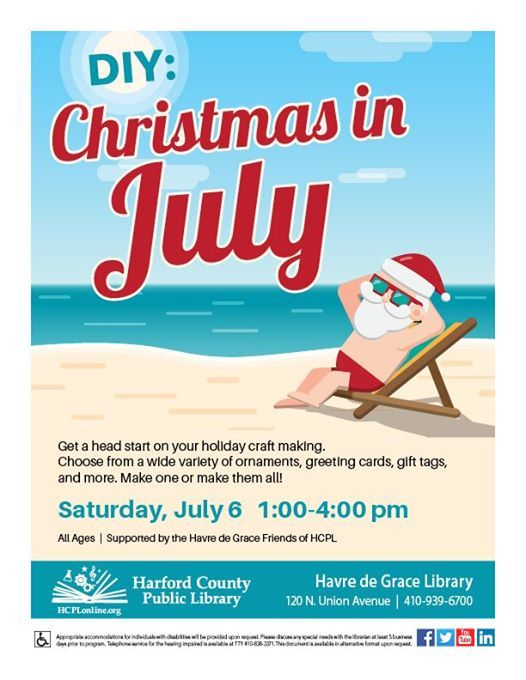 Christmas In July Gift Tags.Diy Christmas In July At Hcpl Havre De Grace Library