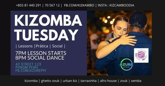 Kizomba Dance Class in Azure | Event in Phnom Penh | AllEvents.in