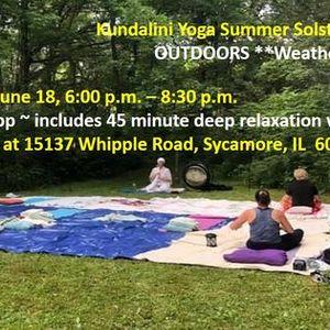 Summer Solstice Celebration  Kundalini Yoga Style