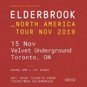 Elderbrook at Velvet Underground  Nov 15