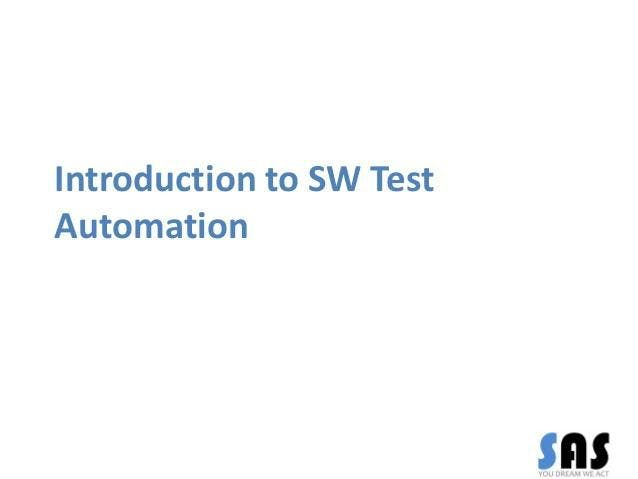 Introduction To Software Test Automation 1 Day Virtual Live Training in United Kingdom