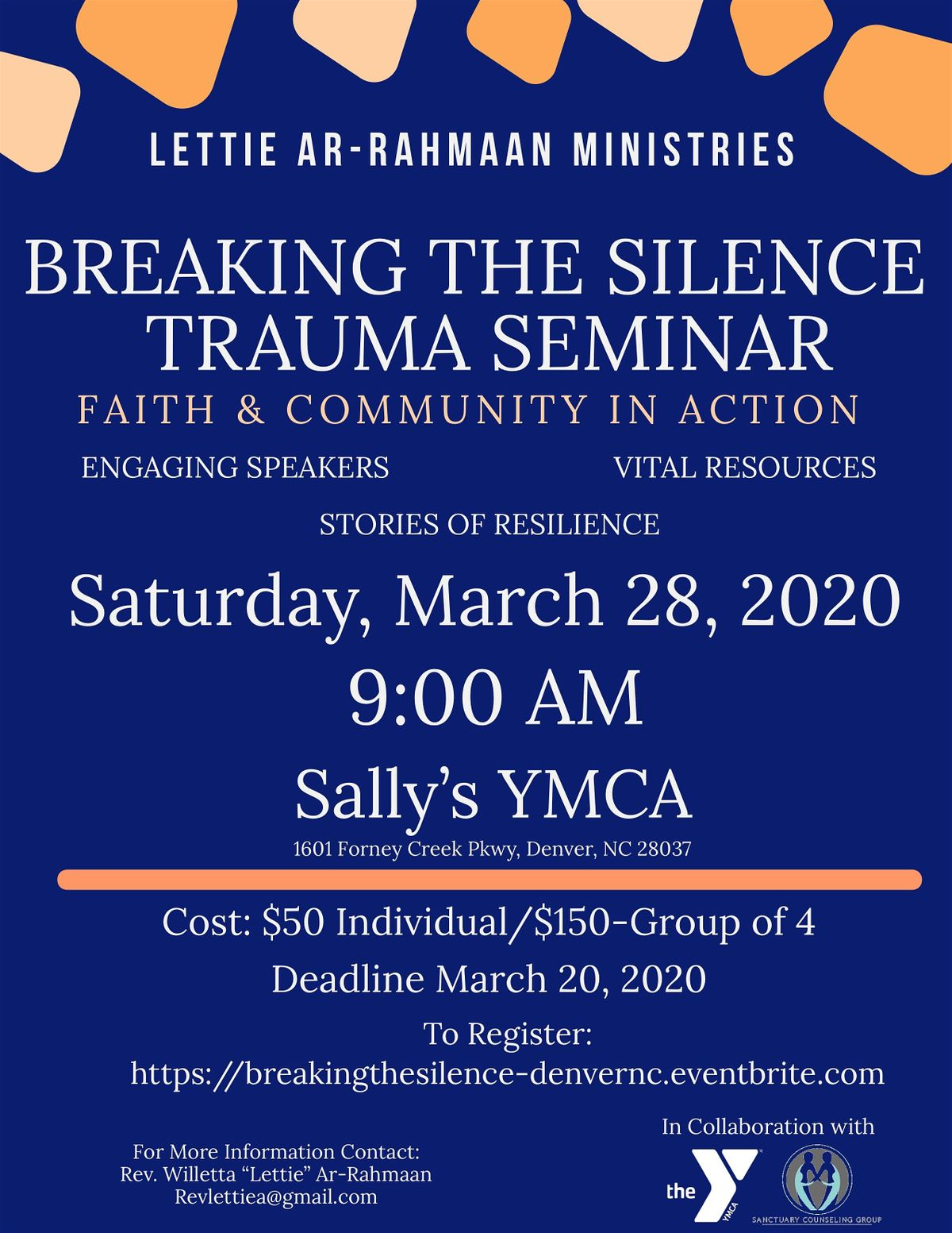 Breaking The Silence Seminar Denver Nc At Sally S Ymca Denver