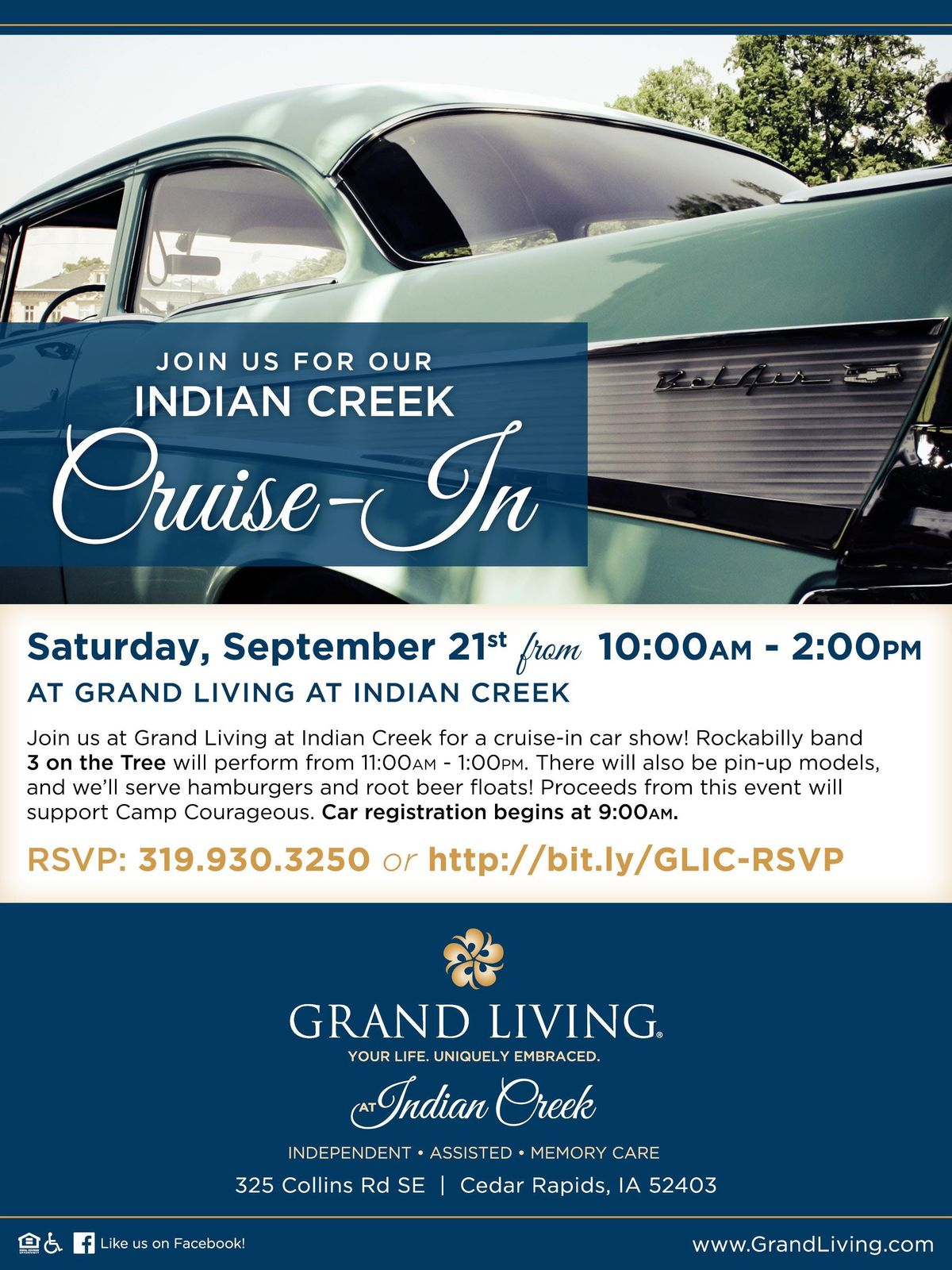 Indian Creek Cruise In at Grand Living At Indian Creek