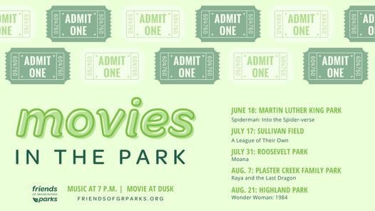 Movies in the Park: Plaster Creek, 7 August | Event in Grand Rapids | AllEvents.in