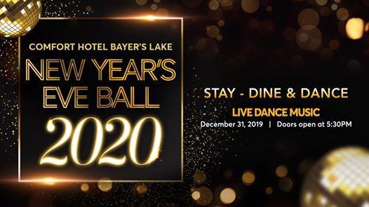 Comfort Hotel Bayers Lake New Years Eve Ball 2020