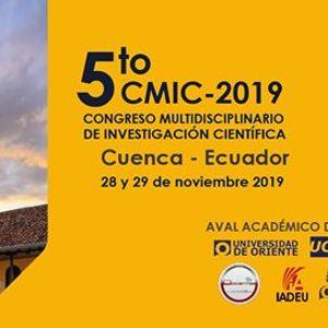 5to. Congreso Multidisciplinario de Investigacin Cientfica