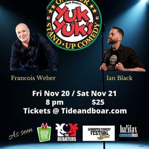 Yuk Yuks Stand-up Comedy Tour Jan 22 and 23 at the  Tide and Boar Ballroom