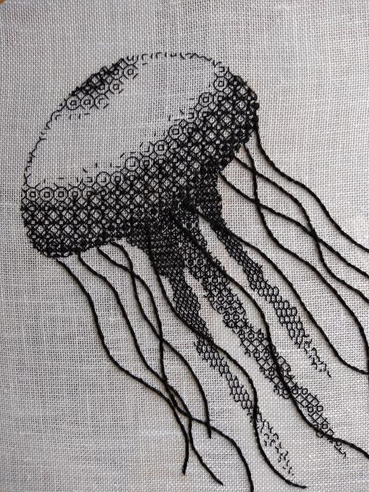 Stitching With Liz & Helen Blackwork Shading