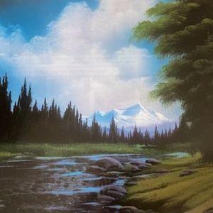 Bob Ross Downstream View Paint & Sip