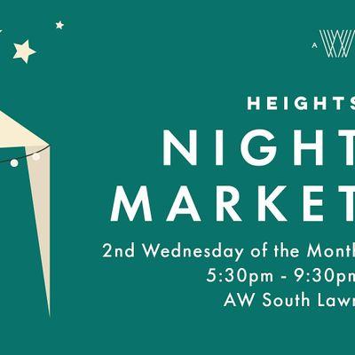 Heights Night Market Vendor Application - 2021