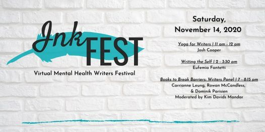 InkFEST | Virtual Mental Health Writers Festival, 14 November | Online Event | AllEvents.in
