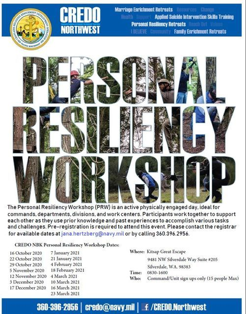 CREDO NBK Personal Resiliency Workshop, 4 February | Event in Silverdale | AllEvents.in