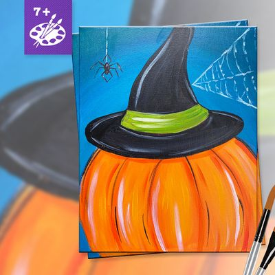 All Ages Painting Event in Downtown Riverside CA  Witchy Pumpkin