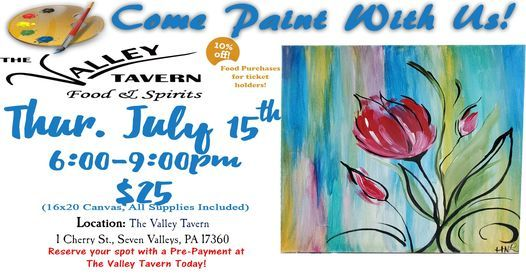 Paint Night at The Valley, 15 July   Event in Seven Valleys   AllEvents.in
