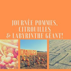 Journe Pommes citrouilles  & labyrinthe gant