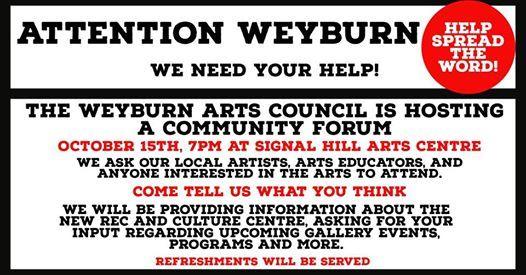 Community Forum re the Arts