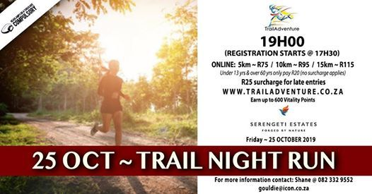 Trailadventure Serengeti Trail Night Run 15 10 & 5km