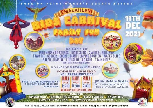 Emalahleni Kids Carnival Festival, 4 December | Event in Rayton | AllEvents.in