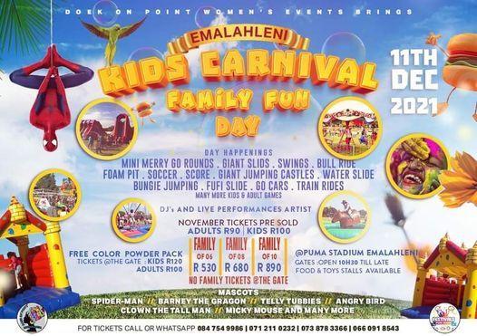 Emalahleni Kids Carnival Festival, 11 December | Event in Rayton | AllEvents.in