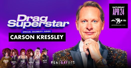 Drag Superstar with Carson Kressley, 24 April | Event in Columbus | AllEvents.in