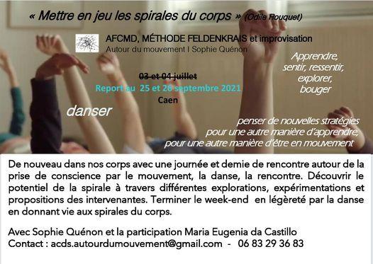"""Mettre en mouvement les spirales du corps"", 25 September   Event in Caen   AllEvents.in"