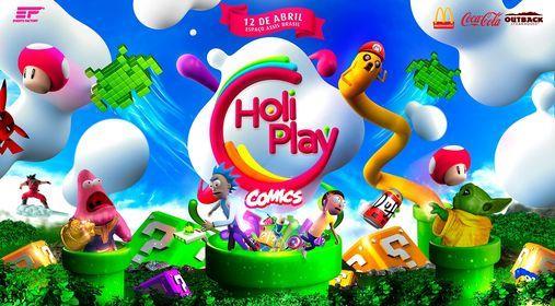 Holi Play Porto Alegre 5 Ed. - O Festival das Cores  Comics