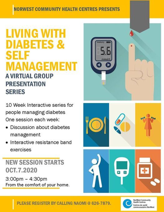Living with Diabetes and Self Management Virtual Group