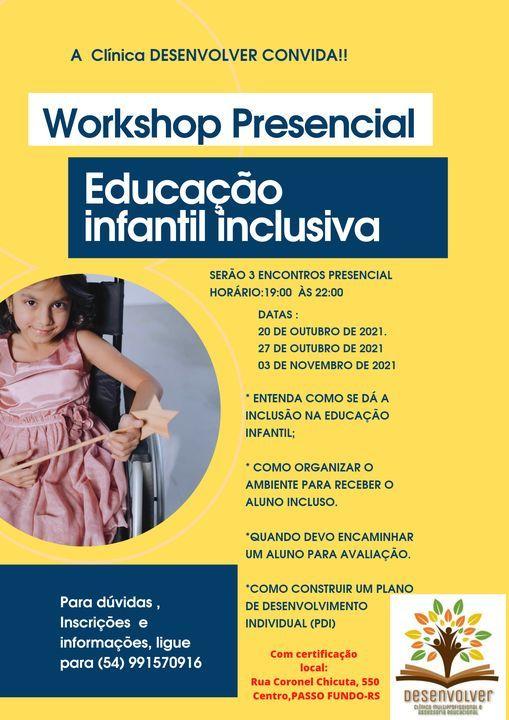 Workshop Presencial Educação infantil inclusiva   Event in Tema   AllEvents.in
