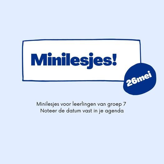Minilesjes groep 7, 26 May | Event in Eindhoven | AllEvents.in
