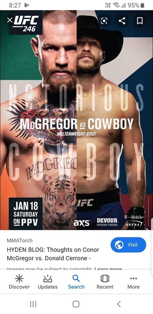 Conor Mcgregor Vs Donald Cowboy Cerrone At Silver S Bar And
