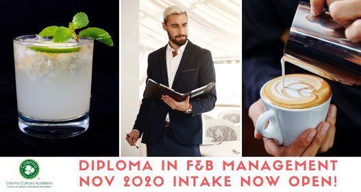 Diploma in F&B Management November 2020 Intake, 16 November | Event in Subang Jaya | AllEvents.in