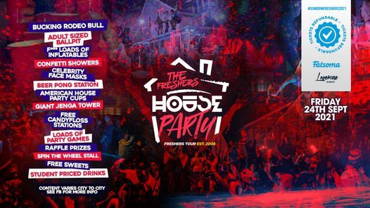 The 2021 Project X Freshers House Party at Studio 338 - On Sale Now!, 24 September   Event in London   AllEvents.in